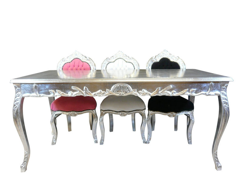 LC Silver baroque table