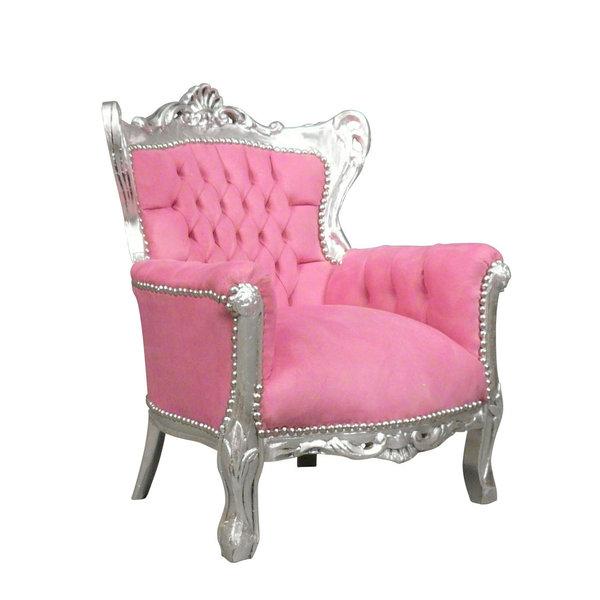 LC Kindertroon diva zilver roze