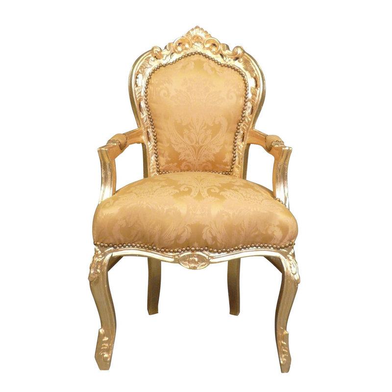 Royal Decoration   Baroque armchair Milano gold flower