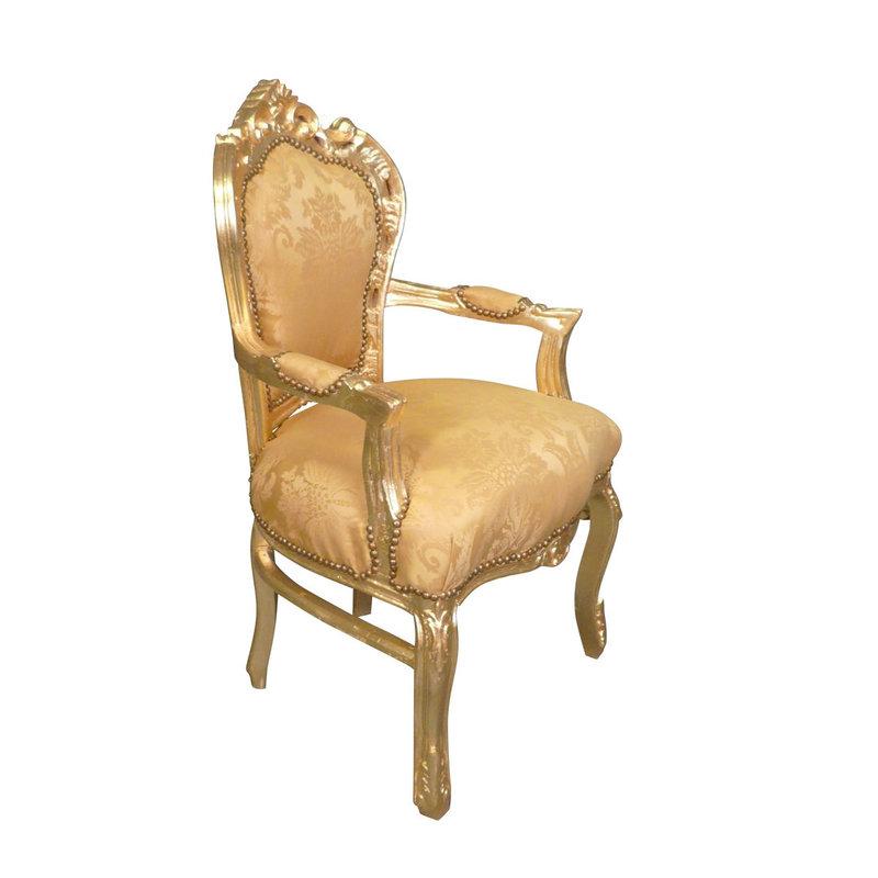 Royal Decoration   Barok armstoel Milano gold  flower