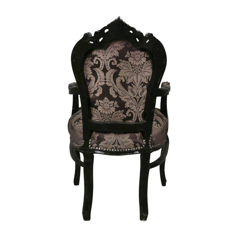 Royal Decoration   Baroque armchair Milano black flower