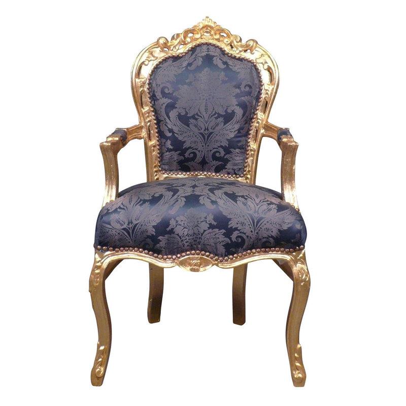 Royal Decoration   Baroque armchair Milano bleu  flower