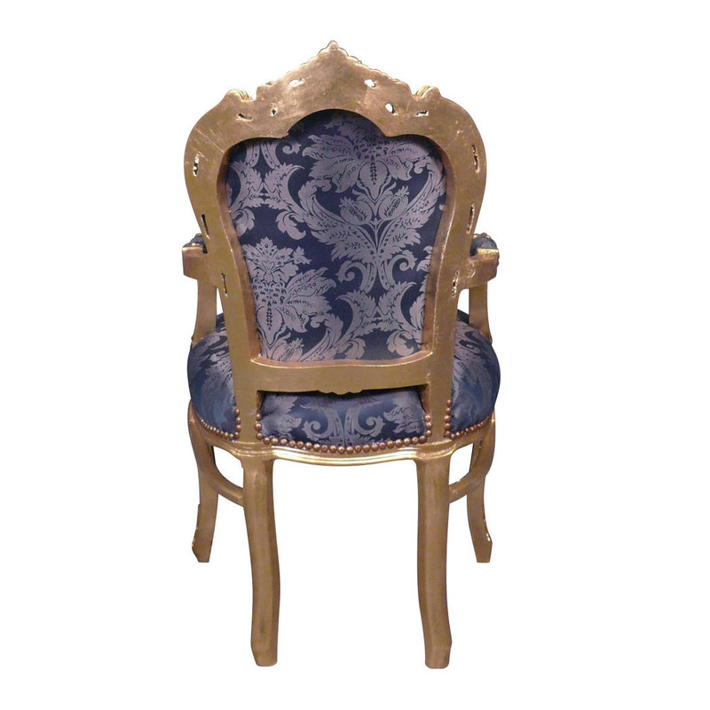 Royal Decoration   Barok armstoel Milano   bleu flower