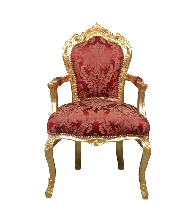 Barok Stoelen Utrecht.Baroque Armchair Milano Gold Flower Le Chique Wonen