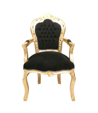 Royal Decoration   Baroque armchair gold black