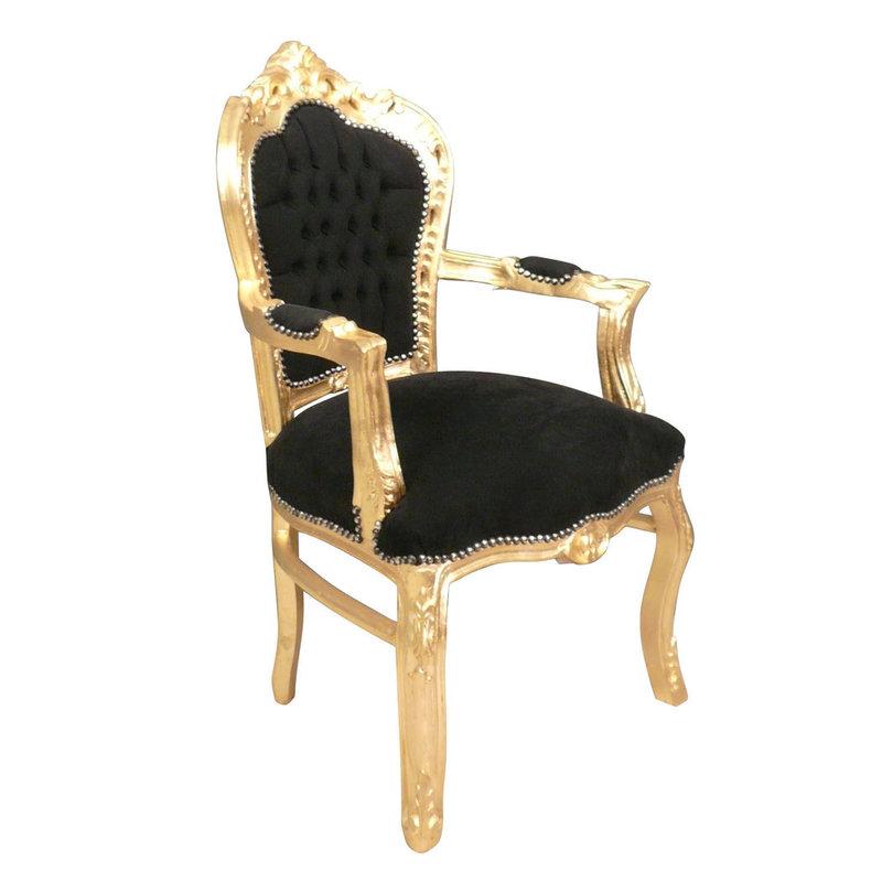 Royal Decoration   Barok armstoel goud  zwart