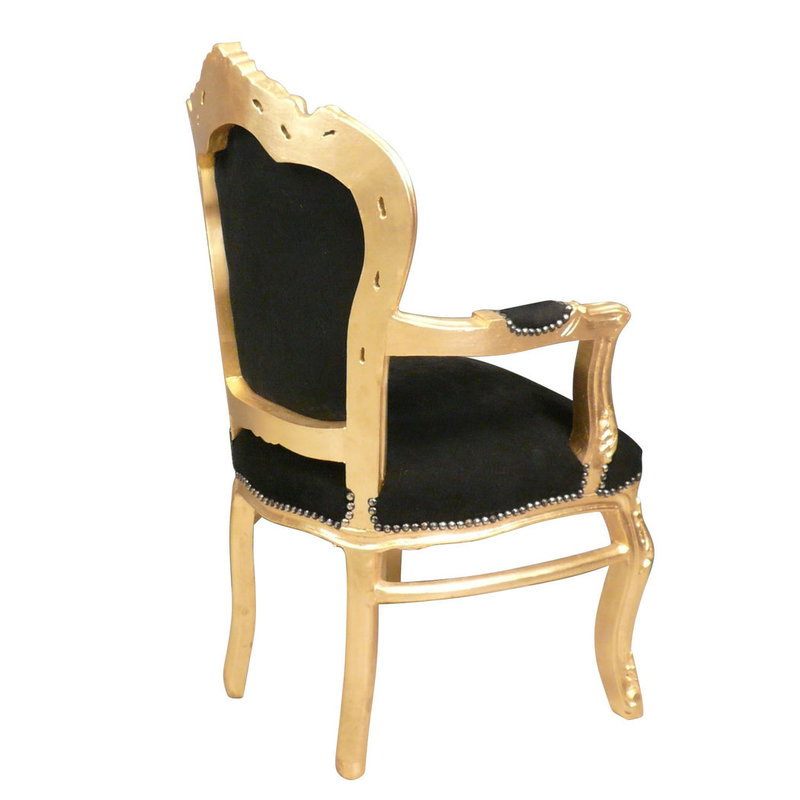 Royal Decoration   Baroque armchair gold black