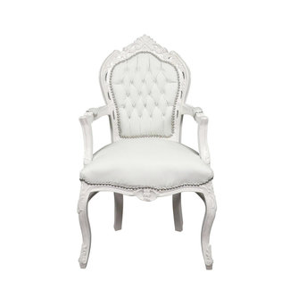 Royal Decoration   Baroque armchair white romantica