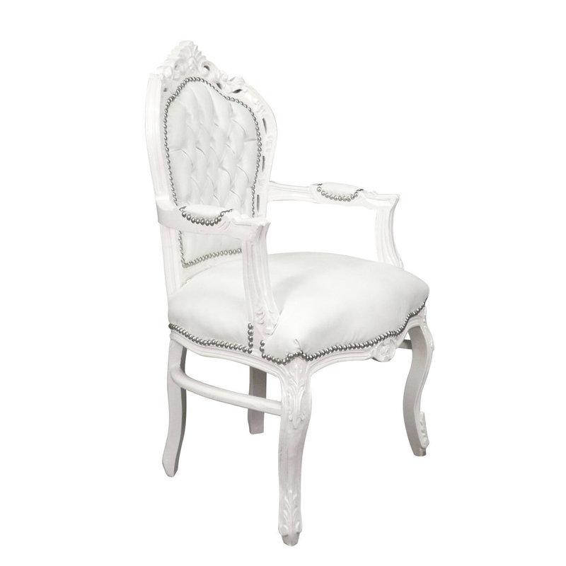 Royal Decoration   Barok armstoel white romantica