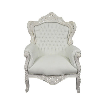 Royal Decoration   Baroque armchair Romantica white