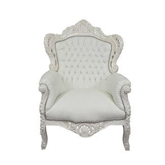 Royal Decoration   Fauteuil baroque Romantica blanc