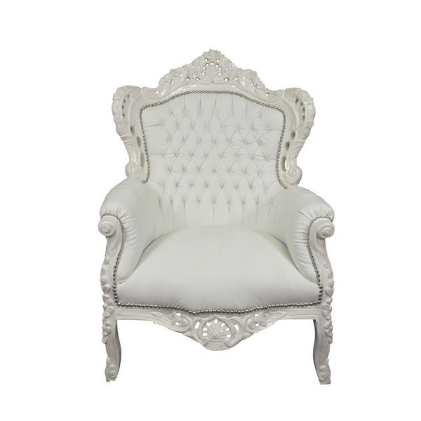 Royal Decoration   Barok fauteuil Romantica wit