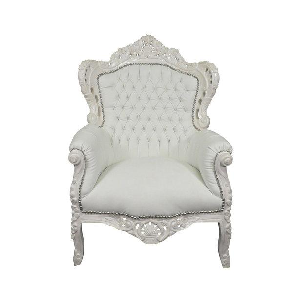 Royal Decoration   Baroque armchair Romantica white