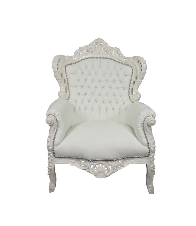 Royal Decoration   Barok fauteuil Romantica wit