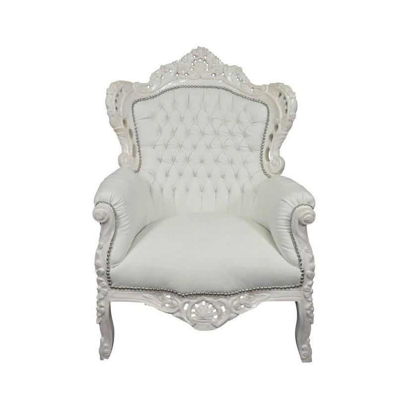 Royal Decoration   Barok fauteuil Romantica  wit sky