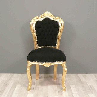 LC Barok eetkamer stoel goud zwart