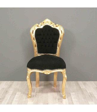 LC Chaise de salle à manger or ciel noir