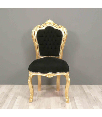 LC Dining room chair gold black