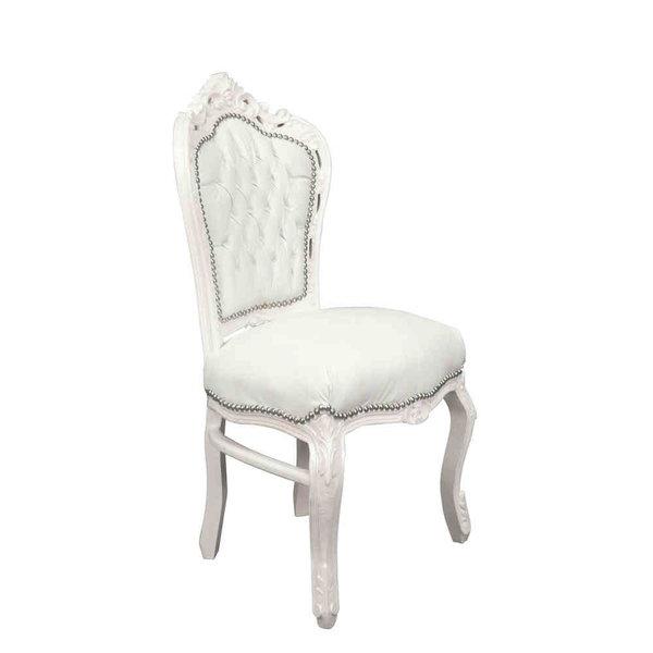 Royal Decoration   Chaise de salle à manger or  blanc