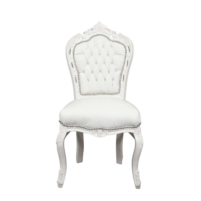 Royal Decoration   Baroque dining room chair white sky