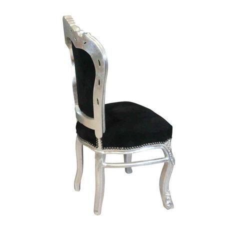 Royal Decoration   Chaise de salle à manger or ciel noir