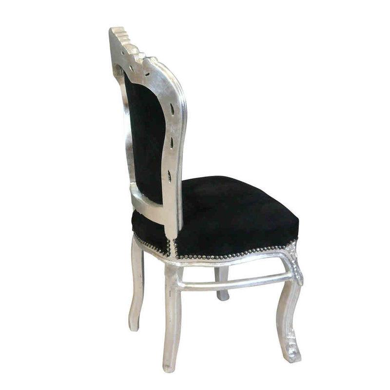Royal Decoration   Baroque dining room chair zilver zwart