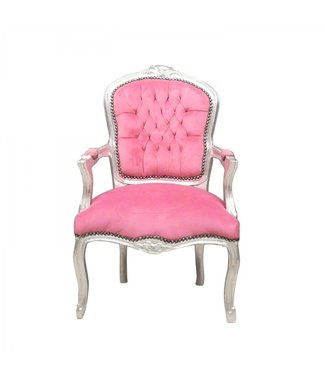 LC Chaise baroque dame rose