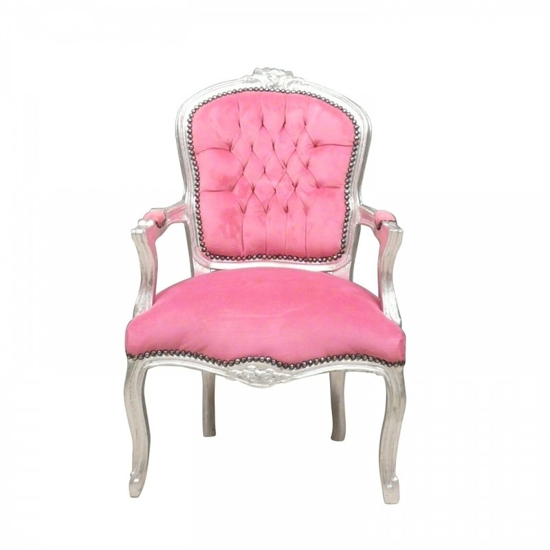 LC Baroque chair lady pink modern