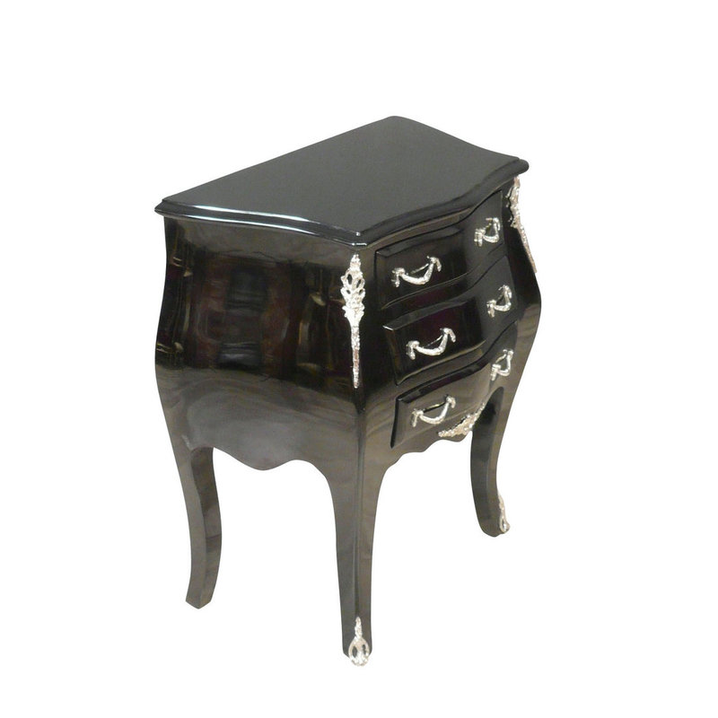 Royal Decoration   Barok  kastje klein model zwart