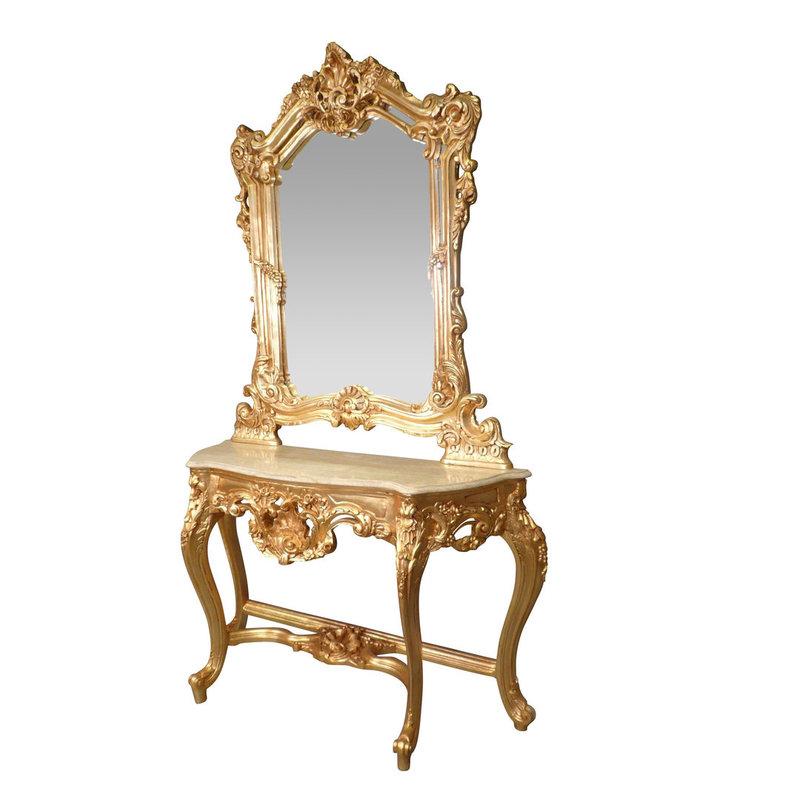 LC Barok kaptafel lady Napoli goud verguld