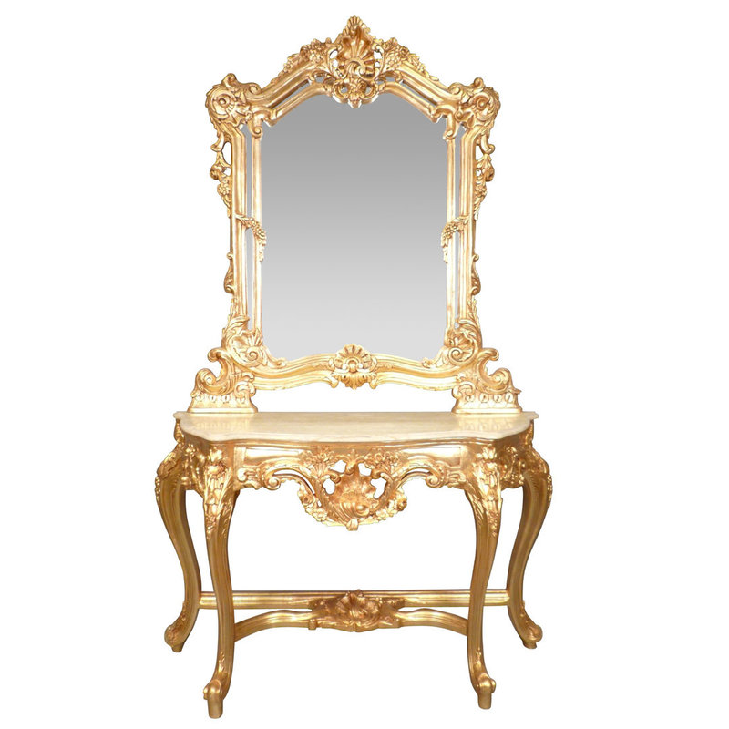 LC Baroque dressing table lady Napoli gold plated