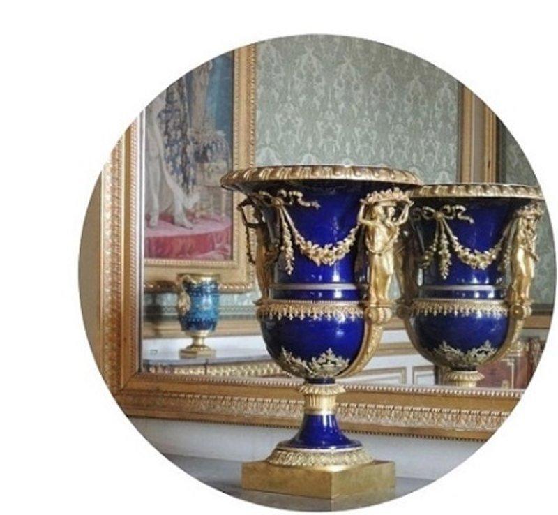 LC Baroque vase roma cobalt blue