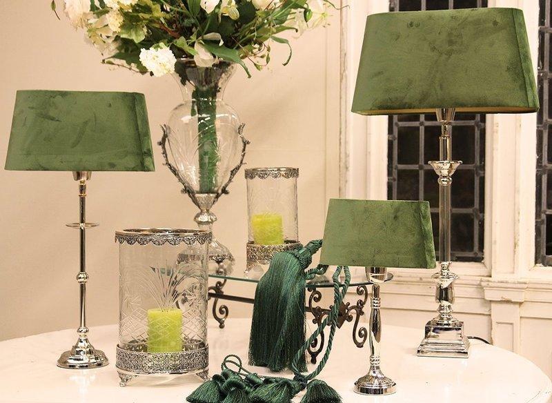 Dutch & Style Lampenkap rond groen velvet