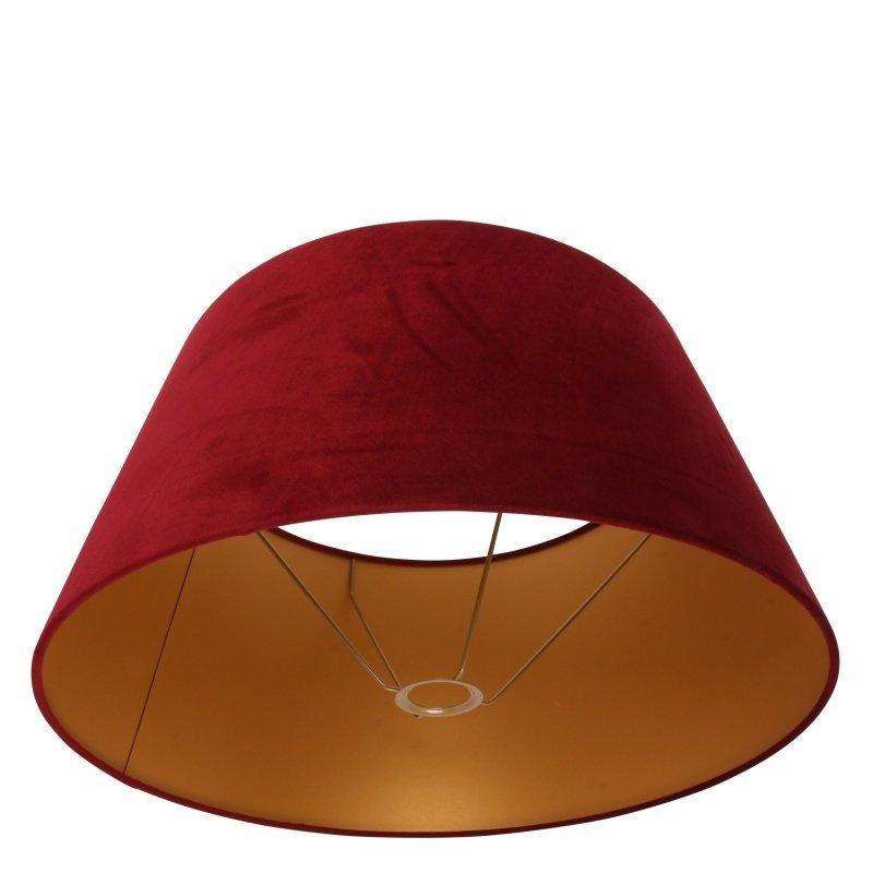 Dutch & Style Lampenkap rond rood  velvet