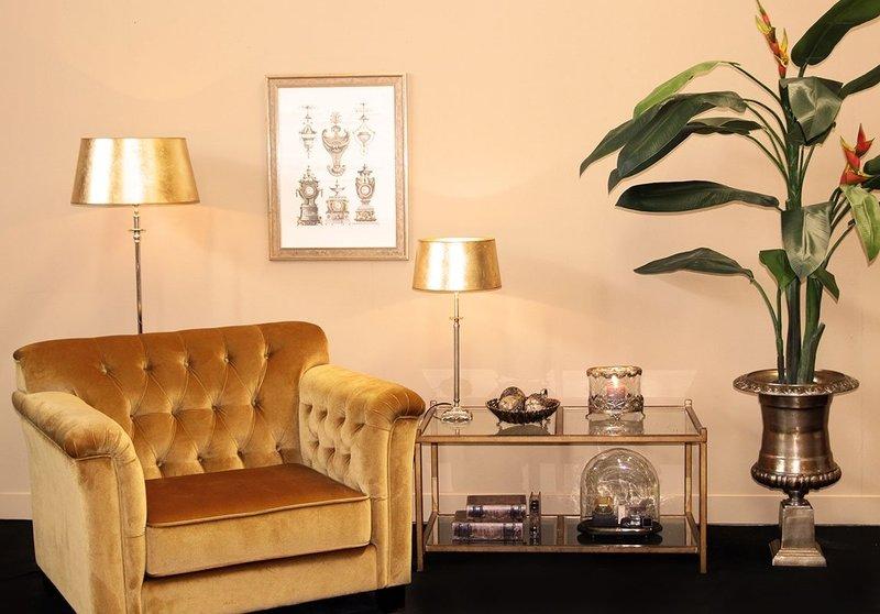 Dutch & Style Lampenkap rond Gold