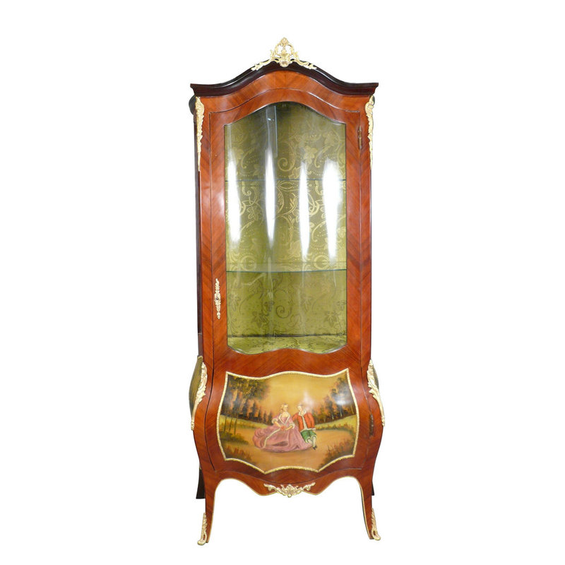 Royal Decoration   Baroque display cabinet Louis XV