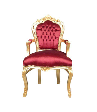 LC Fauteuil baroque or rouge