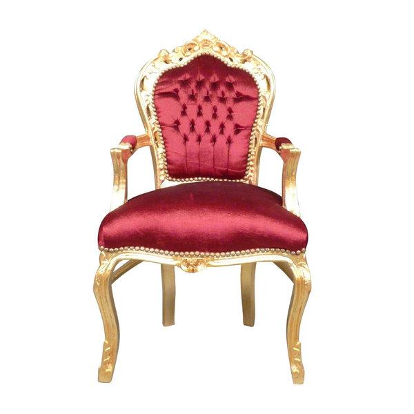 LC Barok  armstoel goud rood