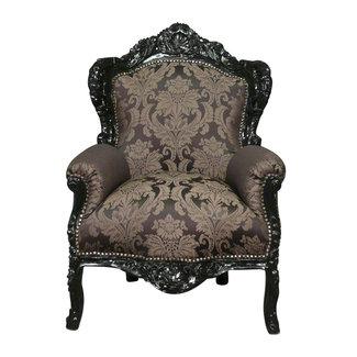 LC Barok fauteuil zwart