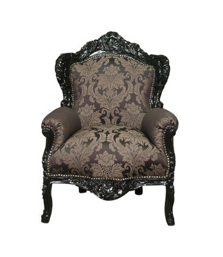 LC Baroque armchair black