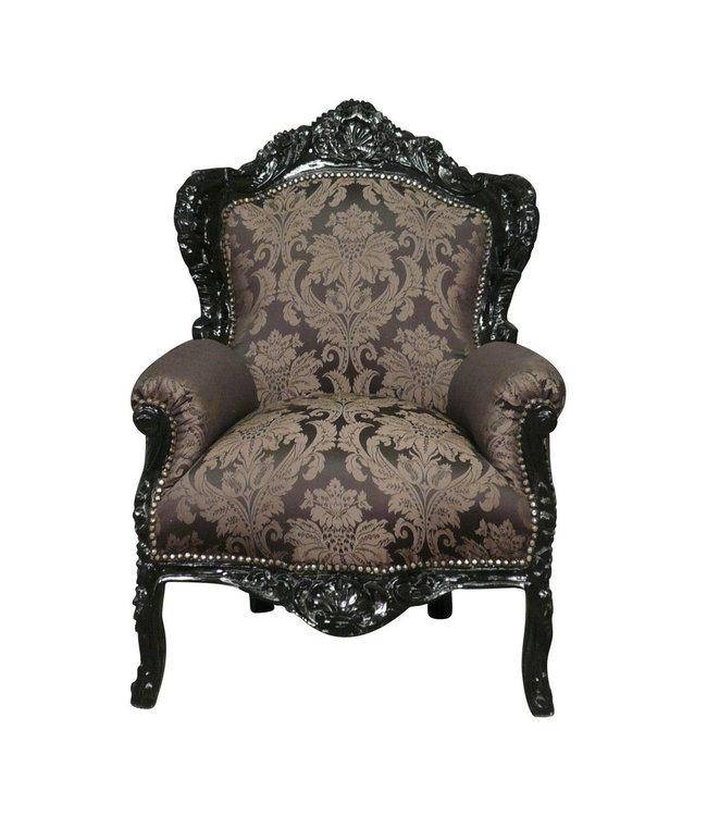 LC Fauteuil baroque noir