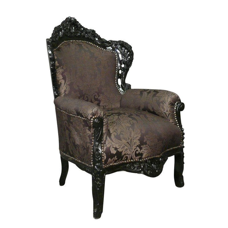 LC Baroque armchair black