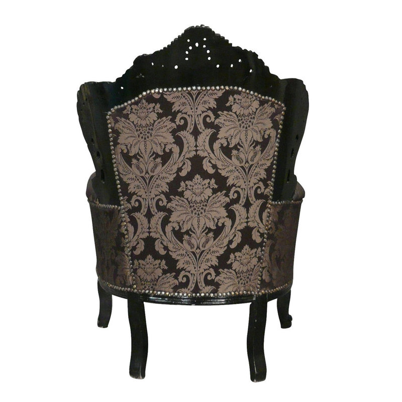 LC Barok fauteuil zwart  Milano