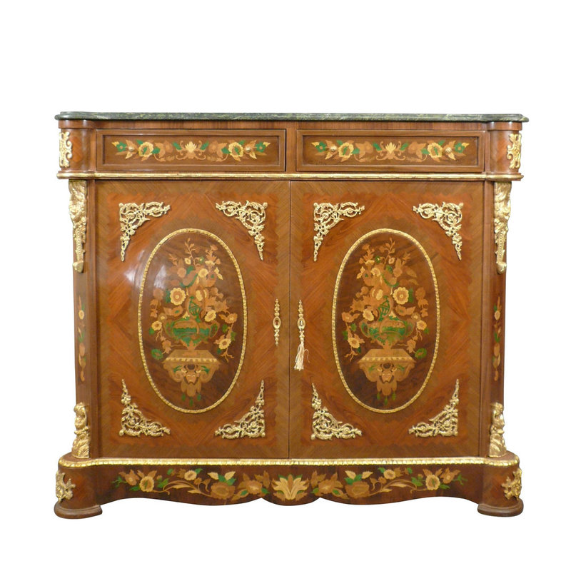 LC Buffet amadeus buffet style with green marble top