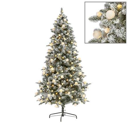 Good Will  280 LED L.BULB FLOCK PINE TREE WH 210CM 1276TPS