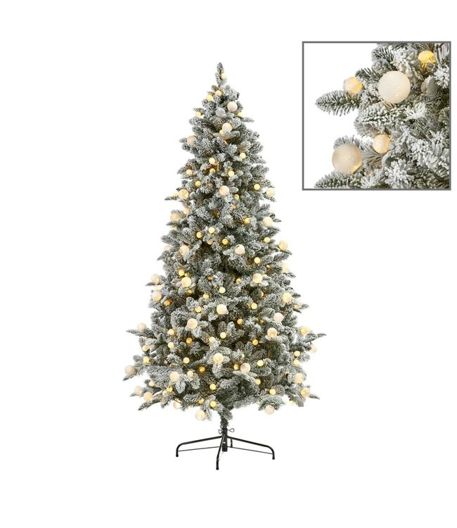 Good Will  280 LED L.BULB FLOCK PINE TREE WH 210CM 1276TPS