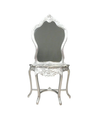 LC Baroque dressing table silver