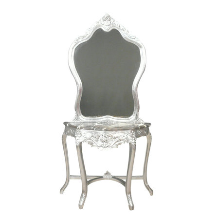 LC Coiffeuse baroque console argent