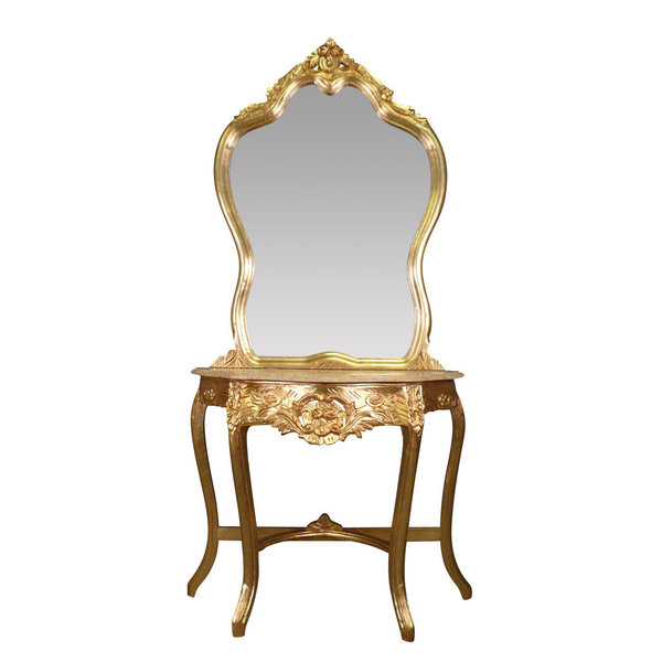 LC Coiffeuse baroque console Or