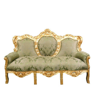 LC Baroque sofa Napoli gold Green flower